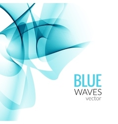 Abstract Blue business line wave white vector image vector image