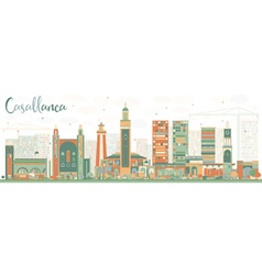 Abstract casablanca skyline vector
