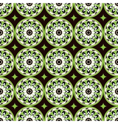 assiria green flowers vector image vector image