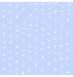 Asymmetrical connected dots background vector