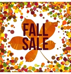 Autumn seasonal sale label vector