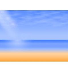 background empty sea beach vector image