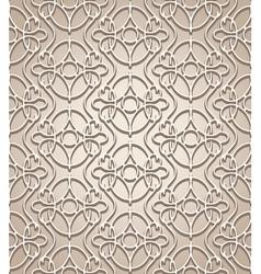 Beige lattice vector image vector image