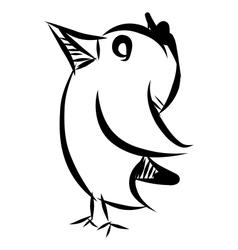Bird doodle sketch vector image vector image
