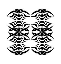 Black tribal ornament vector