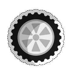 Car tire isolated icon vector
