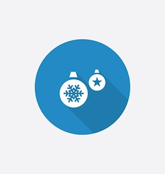 Christmas Decorations Flat Blue Simple Icon with vector image vector image