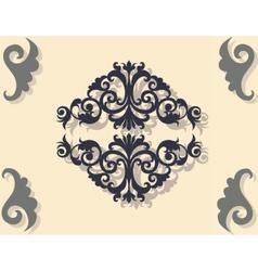 Classic baroque ornament pattern vector
