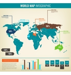 Detail infographic World Map and Information vector image