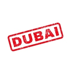 Dubai text rubber stamp vector