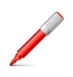 Felt pen isolated on white vector image