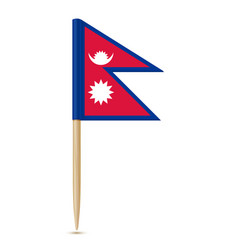 Flag of nepal flag toothpick 10eps vector