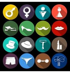 Gender icons set flat vector
