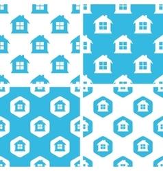 House patterns set vector