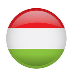 Isolated flag of hungary vector