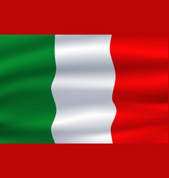 italy flag italian national symbol vector image