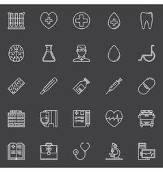 Medical line icons set vector