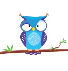 Owl funny vector