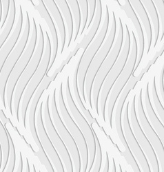Paper cut out abstract wavy leaves vector