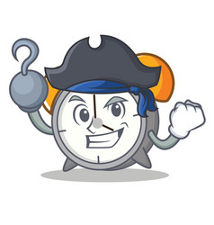 Pirate alarm clock character cartoon vector