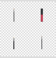 realistic liquid lipstick contour style kit brow vector image