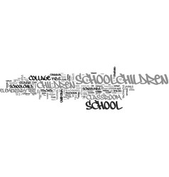Schoolchildren word cloud concept vector