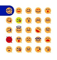 Set of emoji speech bubble emoticons vector image vector image