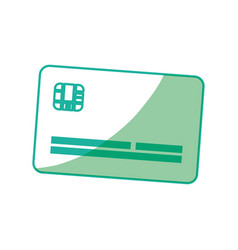 Silhouette cute credit card to pay electronic vector