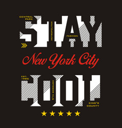 stay cool nyc vector image