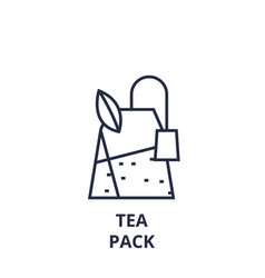tea pack line icon outline sign linear symbol vector image