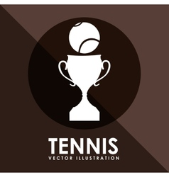 tennis game design vector image