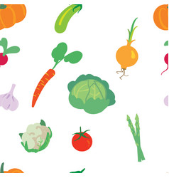 vegetable pattern on a white background vector image vector image