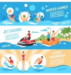 Water Sport Banners Set vector image