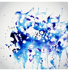 Watercolor texture blue grunge paper template vector