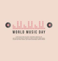 World music day celebration banner vector