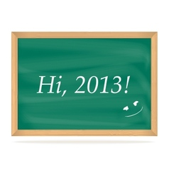 School board with number of new year 2013 vector