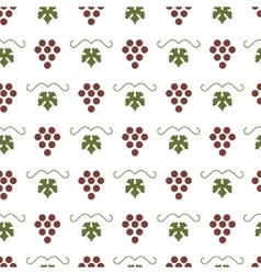 Bunch of grapes seamless pattern vector