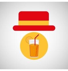travel tourist hat concept cocktail drink vector image