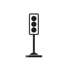 Black icon on white background traffic vector