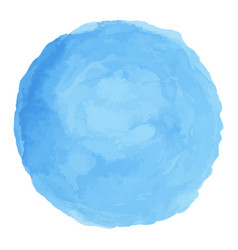 Delicate blue watercolor painted stain vector