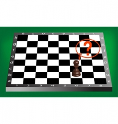 pawn and chess board vector image
