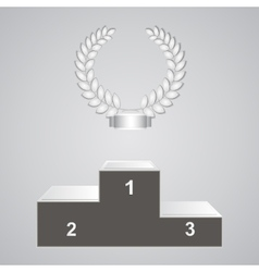 Pedestal and laurels vector