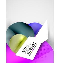 Abstract circles hi-tech futuristic background vector image