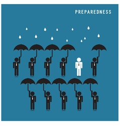 Businessman standing out from the crowd vector