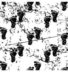 Footprint pattern grunge monochrome vector