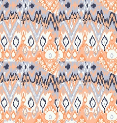 Colored seamless ethnic print pattern abstract vector