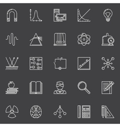 Physics and science icons vector
