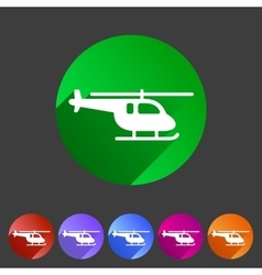 Helicopter icon flat web sign symbol logo set vector