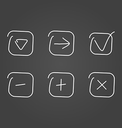 Set icon draw effect vector