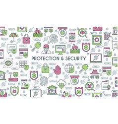 Banner on theme security vector